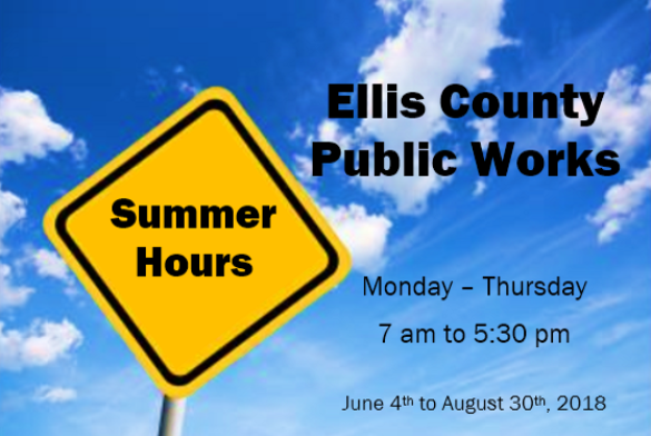 Public Works Summer Hours 2018