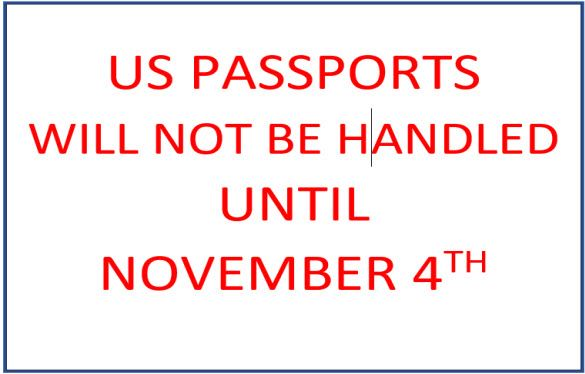 PASSPORTS NOT HANDLED UNTIL