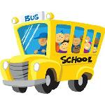 Kids in a school bus